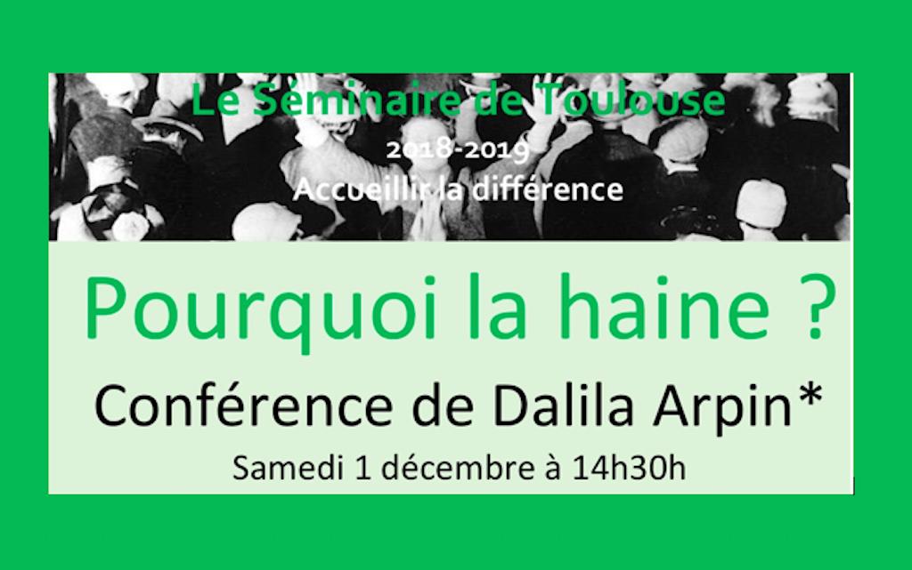 Conférence D.Arpin Pourquoi la haine