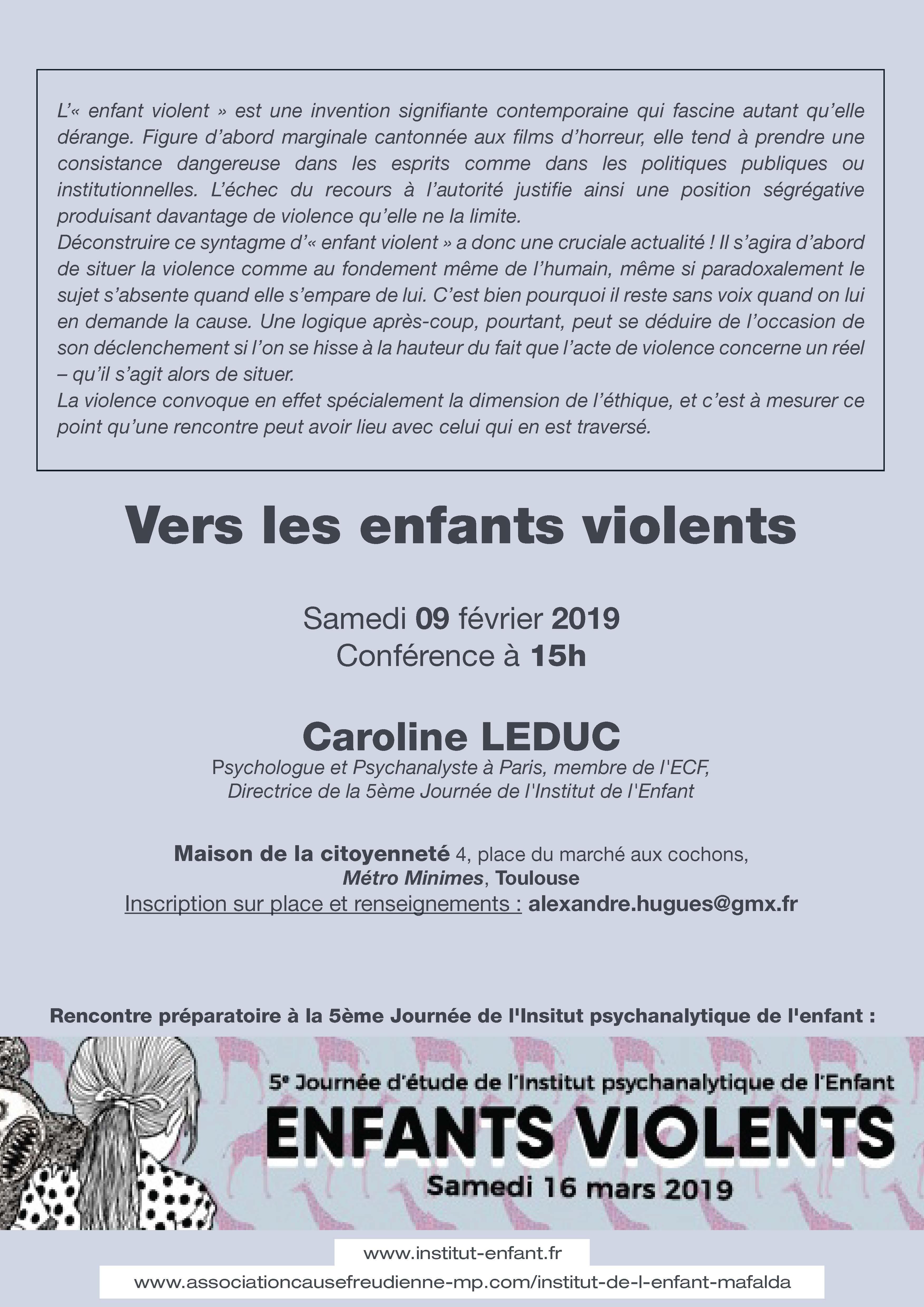 Flyer Conférence Caroline Leduc verso