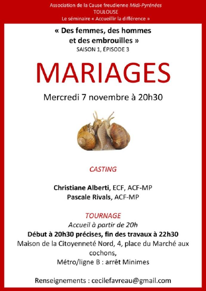 séminaire S01E03 mariages