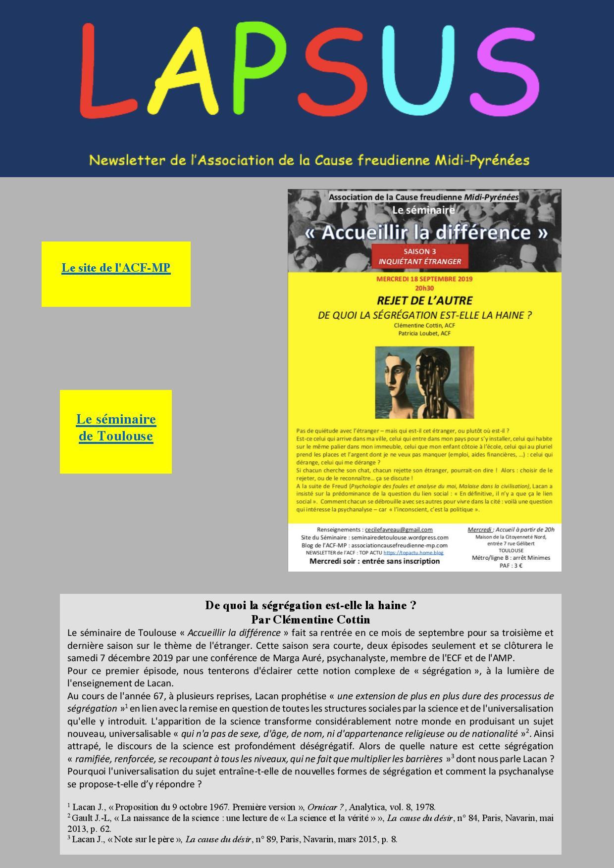Lapsus Seminaire Toulouse