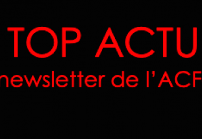 TOP ACTU, la newsletter de l'ACF-MP