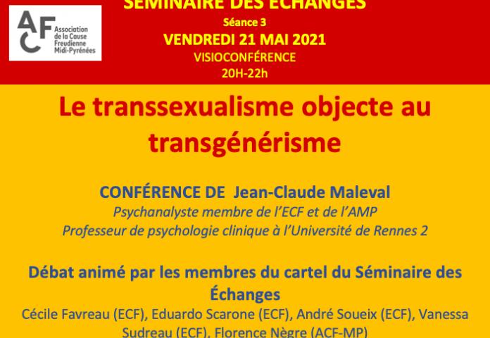 Séminaire des Echanges avec Jean Claude Maleval