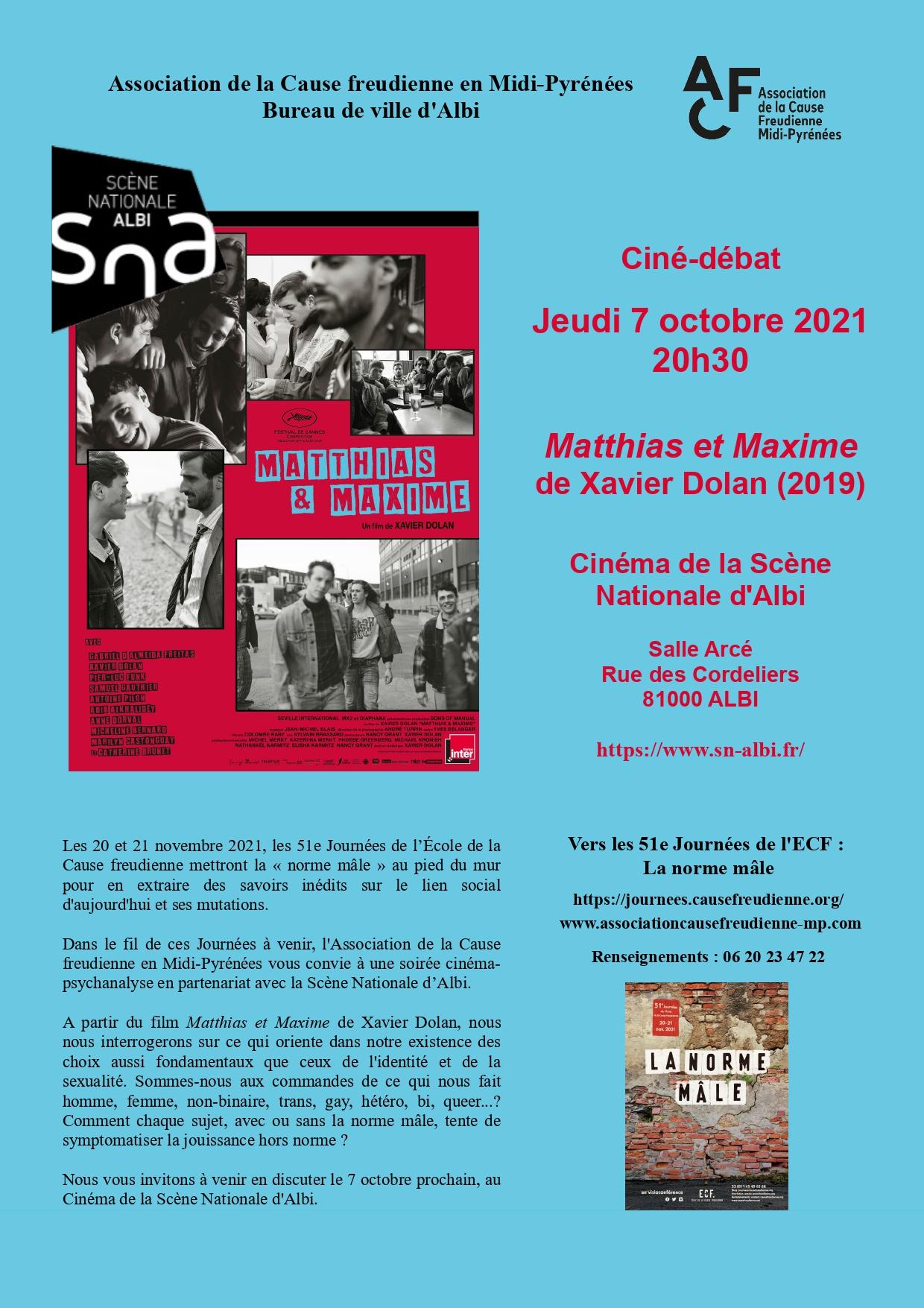 affiche ciné-débat Albi 7.10.21