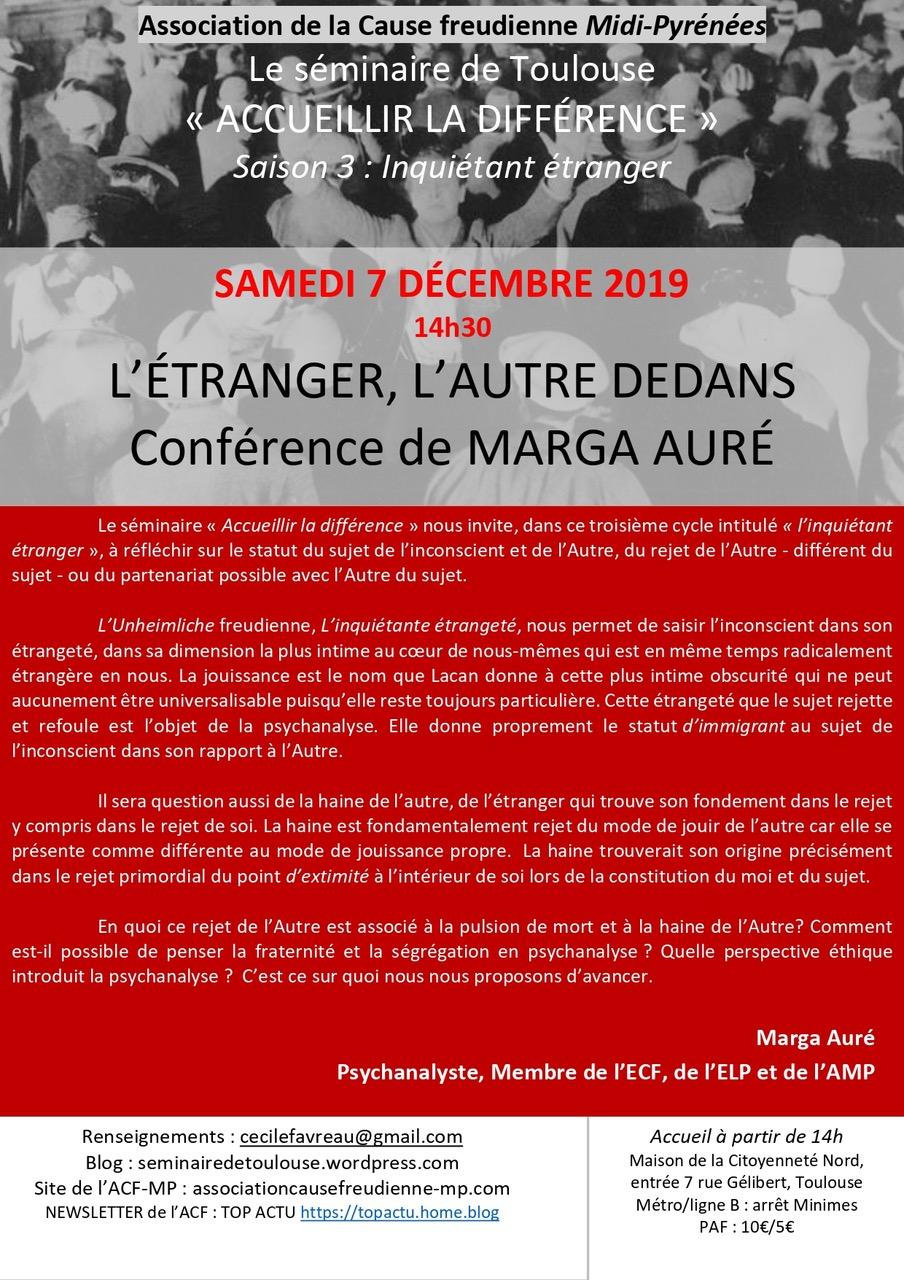 conférence Marga Auré