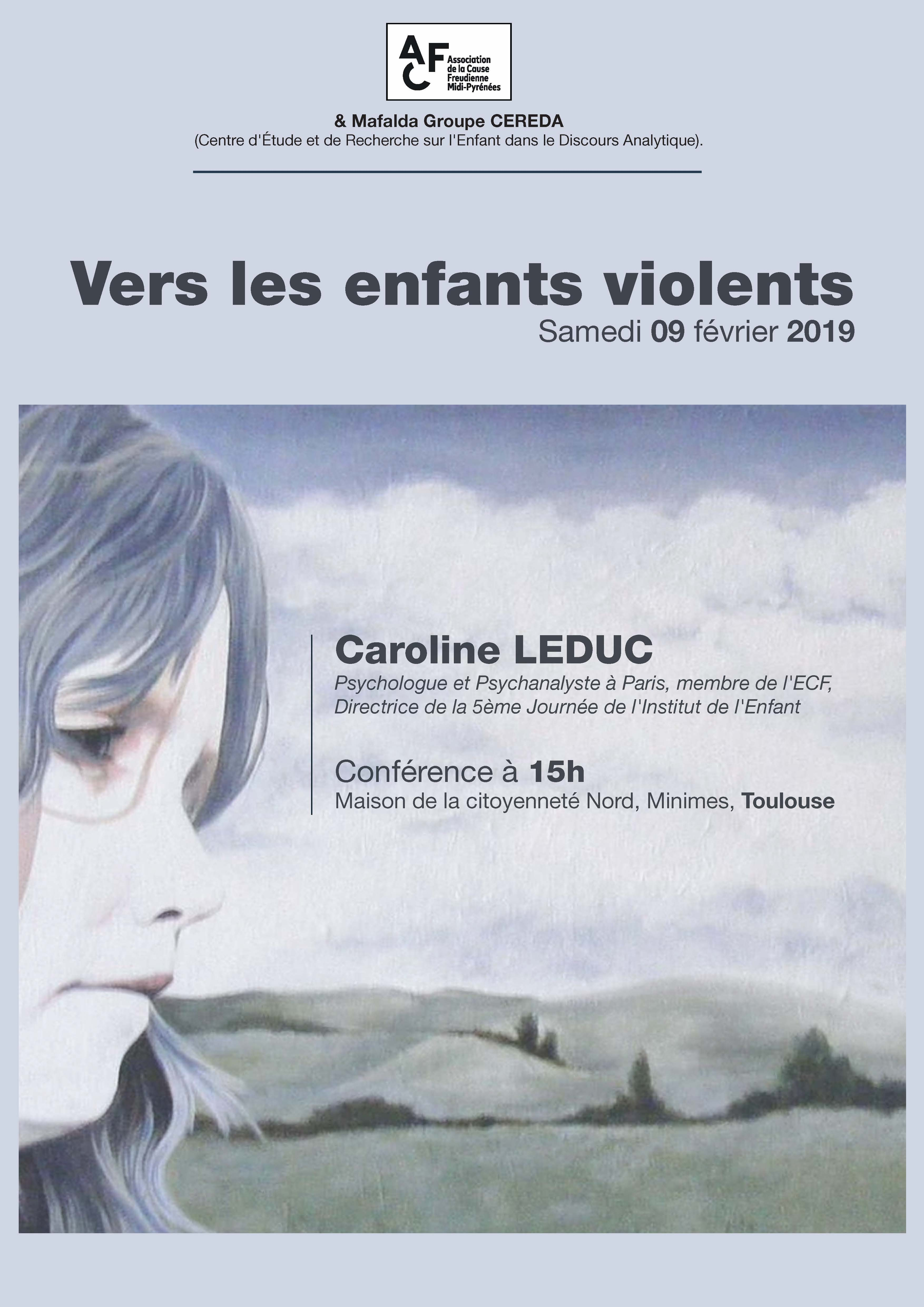 Flyer Conférence Caroline Leduc recto